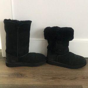 Kids size 4 Women's size 6 Black Ugg Boots